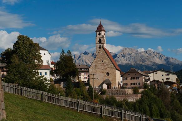 Deutschnofen Kirche Latemar -Othmar Seeh