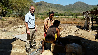 Part of the artisanal gold mining process