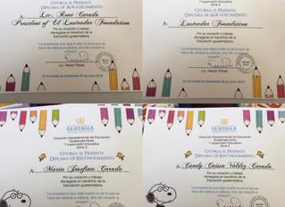 ELF recognized for Education in Guatemala/ELF reconocida por educación en Guatemala
