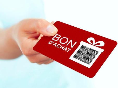 Bons d'achat et Cadeaux NOËL 2020 - précisions