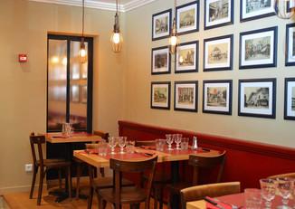 Salle arrière de la pizzeria Maestro de Senlis