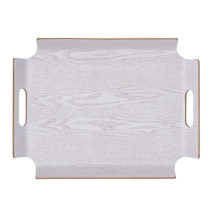 Plateau rectangle blanc,  sans angle