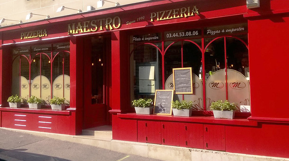 Devanture de la Pizzeria Maestro de Senlis