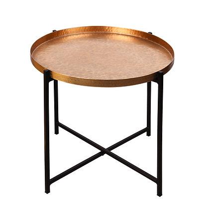 Table d'appoint 55 cm grand modèle or