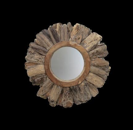 Miroir soleil Bois rustique