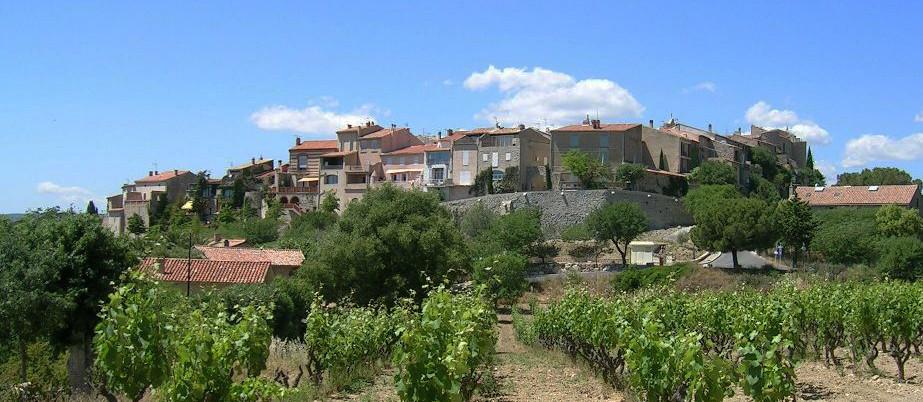 Le village du Castellet et ses vignes