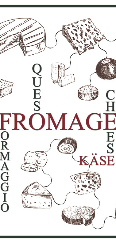 Bâche murale Fromages