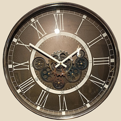Horloge Méca Marron 54 cm