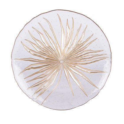 Assiette plate 28 cm bali transparent