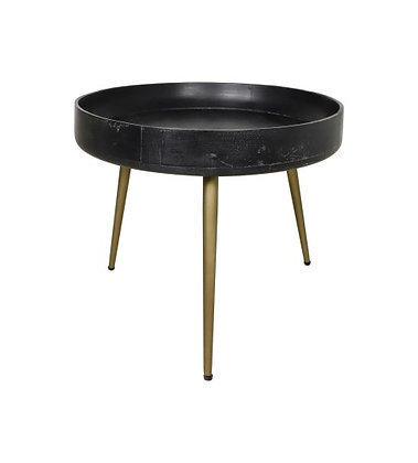 Table appoint manguier noir