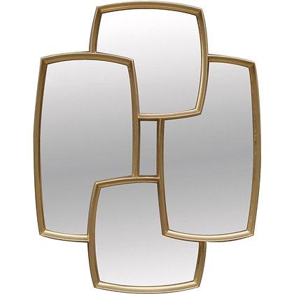 Miroir doré géométrique