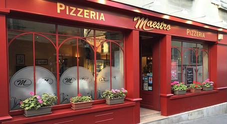 La devanture de la pizzeria Maestro de Senlis