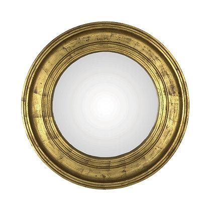 Miroir convexe doré 52cm