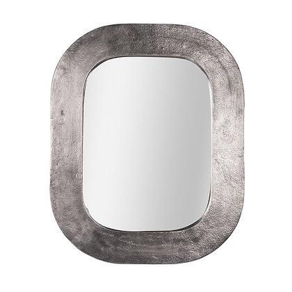 Miroir en métal argenté 40x50 cm