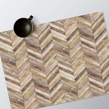 Set de table Vinyle Planches chevron 30x40cm