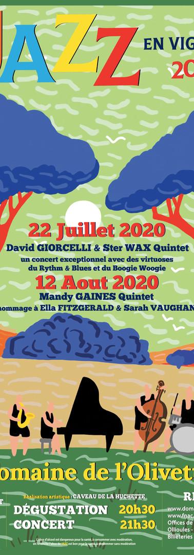 Affiche Jazz en Vignes 2020
