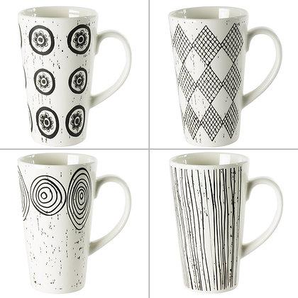 Coffret de 4 mugs Palawan 34 cl