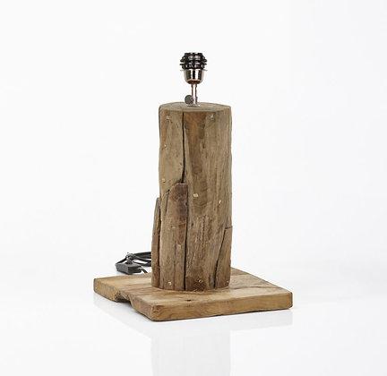 Lampe de table carrée bois naturel