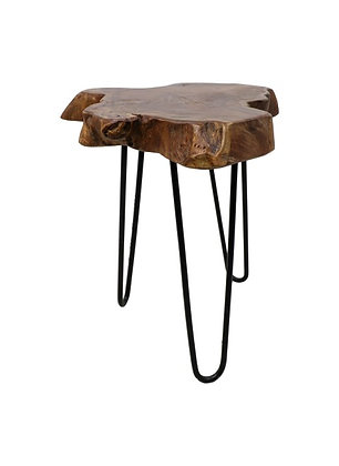 Table/tabouret appoint teck