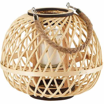 Lanterne sphérique en bambou naturel