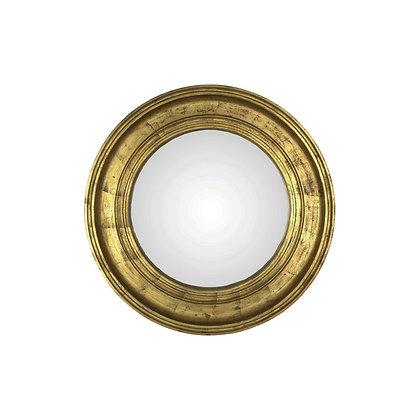 Miroir convexe doré 40cm