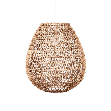 Lampe oeuf en corde naturelle 35 cm