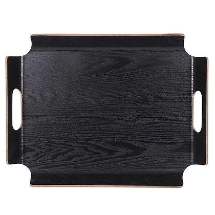 Plateau rectangle noir,  sans angle
