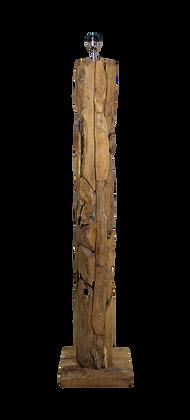 Lampe carrée bois naturel