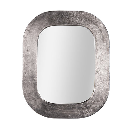Miroir en métal argenté 60x76 cm