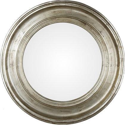 Miroir convexe argenté 74cm