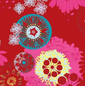 Mandala Rouge (Tissu au mètre)