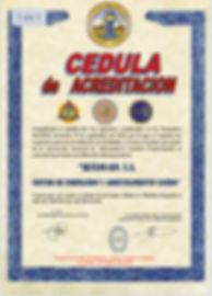 CEDULA DE CERTIFICACION POR PARTE DE ANACP DE ESPAÑA A SKYLOS K9 S.A
