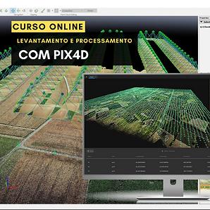 Levantamento e processamento com Pix4D