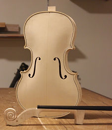 viola before neck goes in