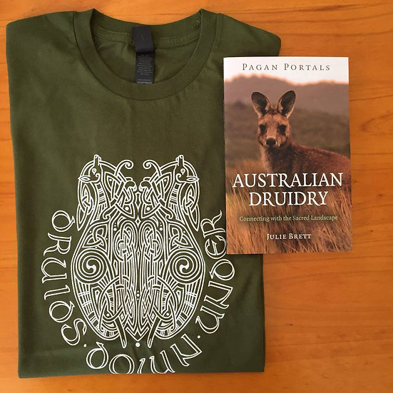 Druids Down Under Tshirt and Book Set