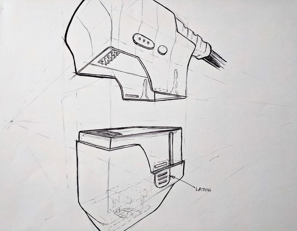 Concept Sketch - Cartridge Locking