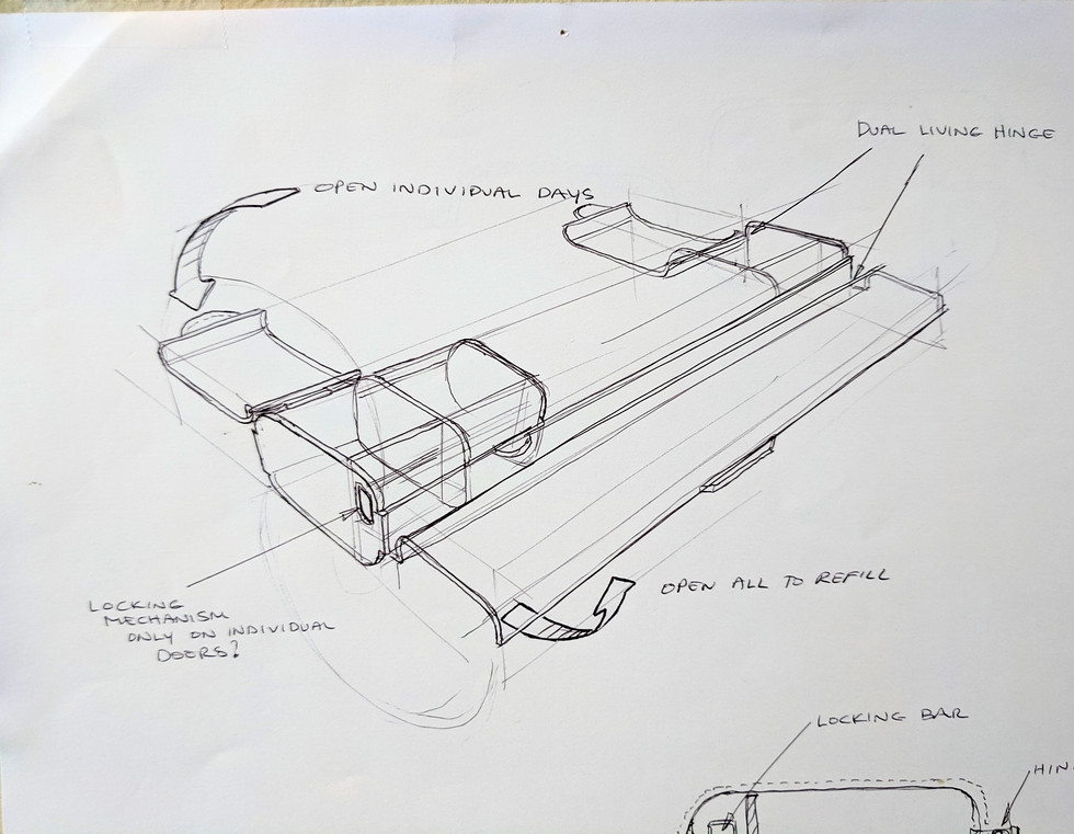 Concept Sketch - Medication Storage