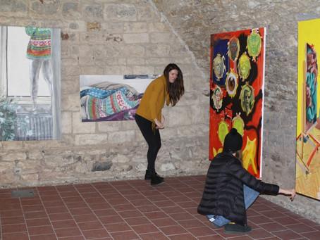 Výstava atelieru malby plzeňské Fakulty designu a umění Ladislava Sutnara