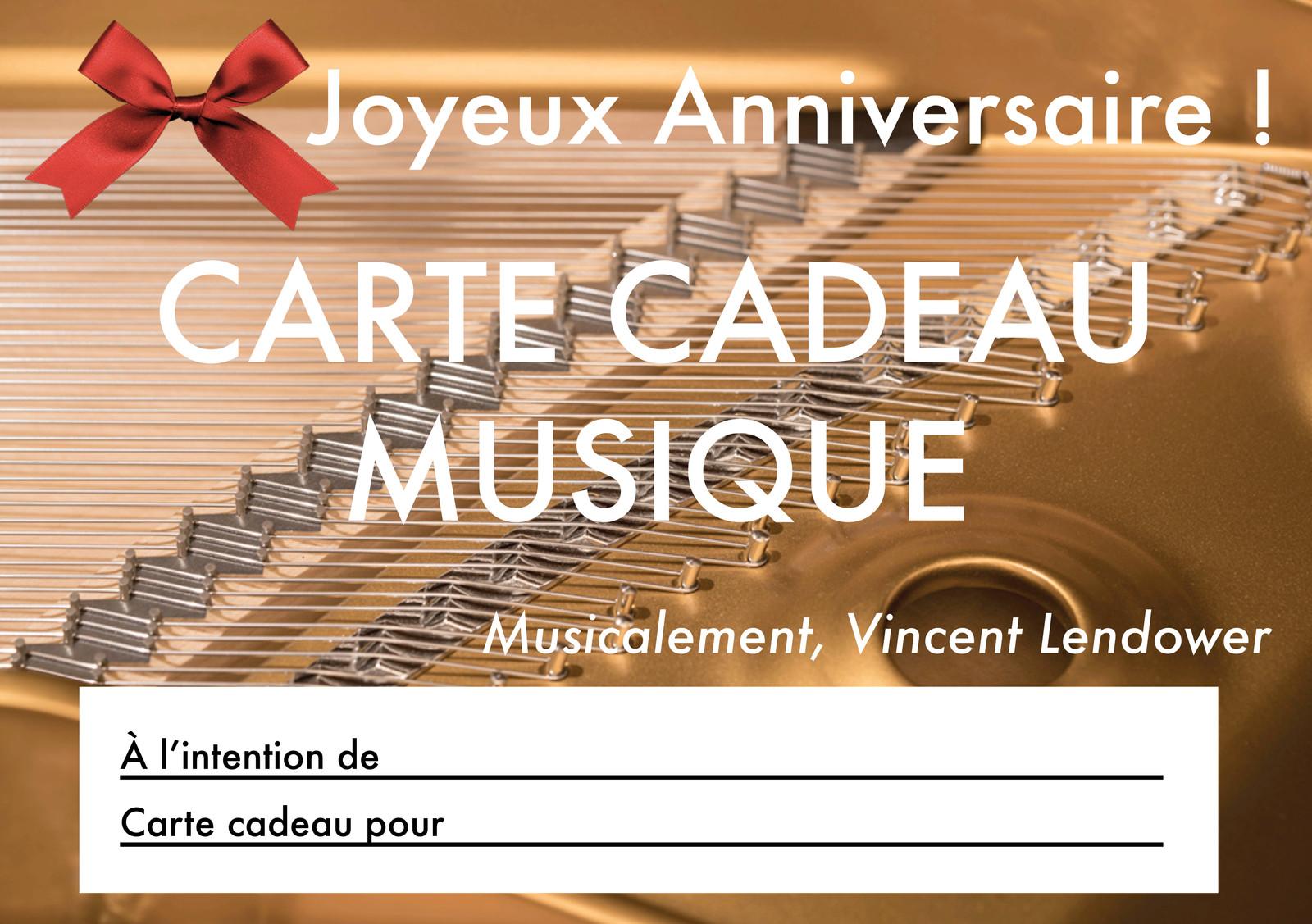Vincent Lendower Cartes Cadeaux Musicaux