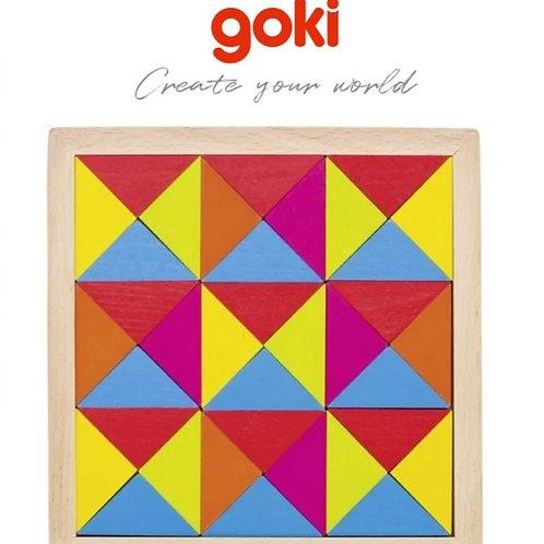 Goki Wooden Mosaic puzzle rainbow II