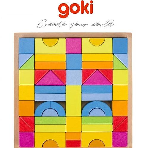Goki Building Blocks Rainbow