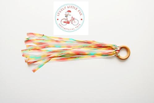 Pastel Rainbow Silk Dyed Hand Kite