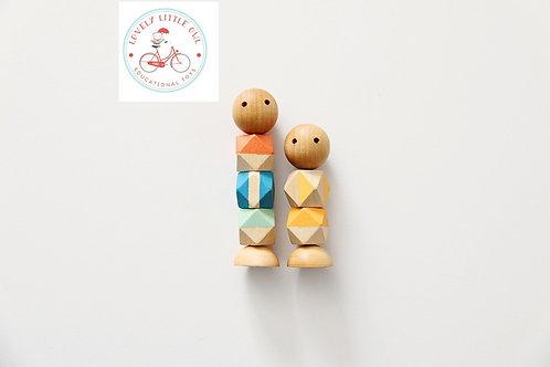 Nautical Little Wooden Fidget Dolls