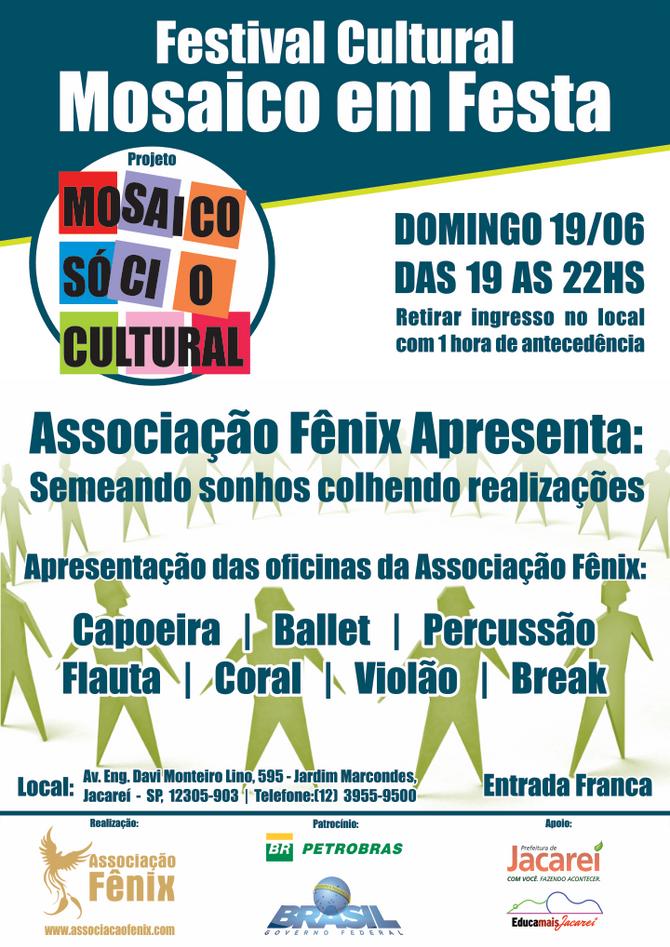 Educamais Jacareí recebe Festival Cultural Mosaico em Festa