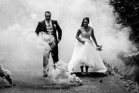 Hochzeitsfotograf Harz Hochzeit Rauchbom