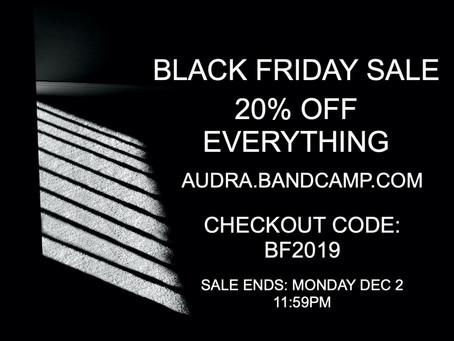 Black Friday Sale - 20% OFF - Now Through Monday, Dec 2nd