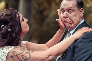 Hochzeit Brautpaarshooting Lustig