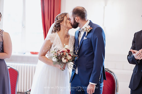 Hochzeitsfotograf Braunschweig Erster Kuss