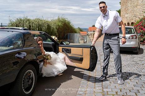 Hochzeitsfoto Ankunft Braut