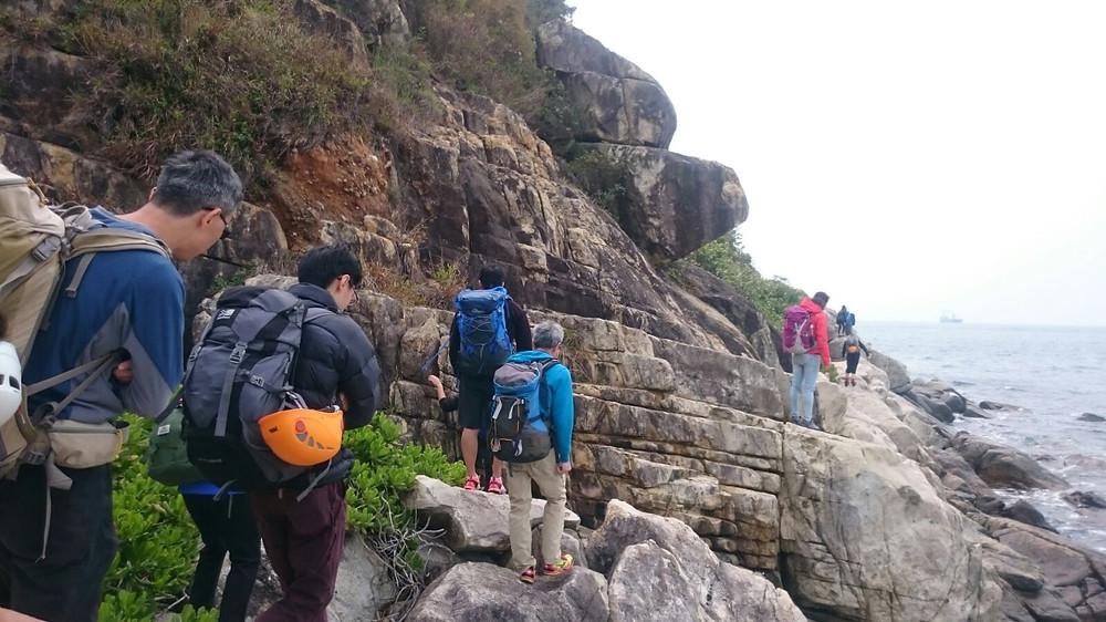 Joanna climbing on a 7b+ route